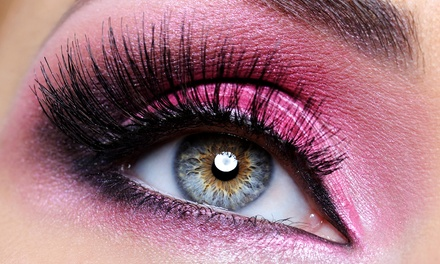 Set of Mascara Silk Lash Extensions with Optional Glitter or Swarovski Crystals at Lash Cafe (Up to 64% Off)