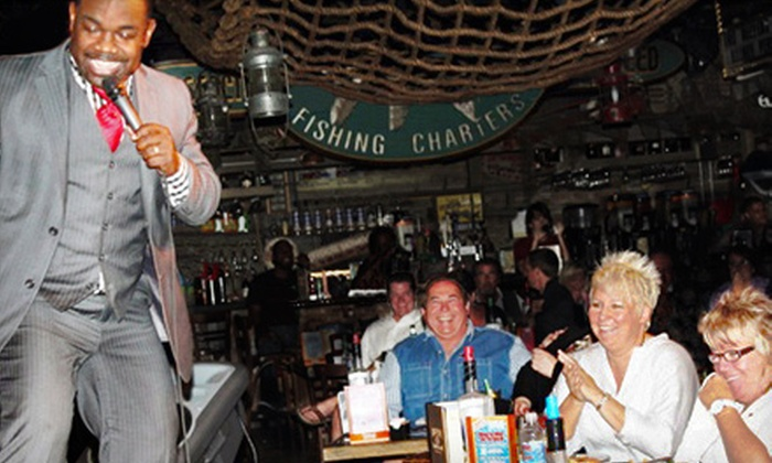 Captain Briens Seafood & Raw Bar - City of Marco: $45 for a Comedy Show and Pre-Fixe Meal for Two at Captain Brien's Seafood & Raw Bar (Up to $91.96 Value)