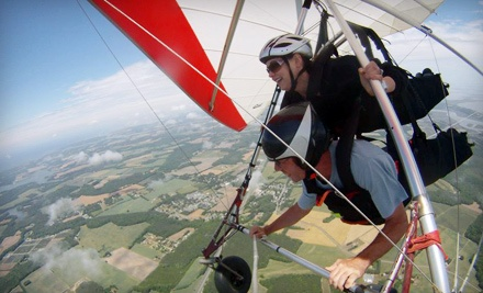 One hang gliding flight and lesson