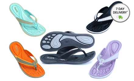 Cheeks by Tony Little Women's Memory-Foam Sandals. Multiple Styles Available. Free Returns.
