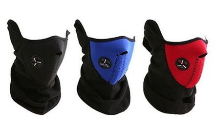 One, Two or Three Thermal Neoprene Face and Neck Masks