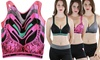 6-Pack of Women's Classic Racerback Padded Sports Bras: 6-Pack of Women's Classic Racerback Padded Sports Bras