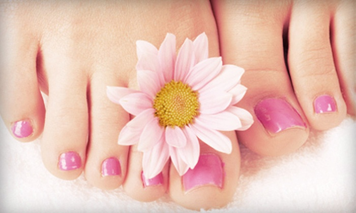 Delaney's Nail Loft - Morningside - Lenox Park: One or Three Flower Manicures or Sunflower-Petal Pedicures at Delaney's Nail Loft (Up to 57% Off)