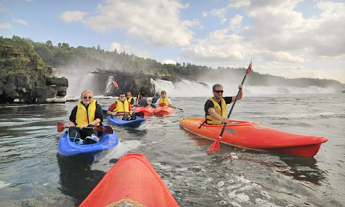 eNRG Kayaking - Oregon City: Goat Island Kayak Tour for Two, Willamette Falls Kayak Tour for Two, or Both from eNRG Kayaking (Half Off)