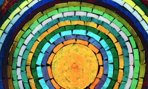 Rainbow Glass: Mosaic Fused-Tile, Basket-Weave, or Glass-Flower Class at Rainbow Glass (Up to 48% Off)