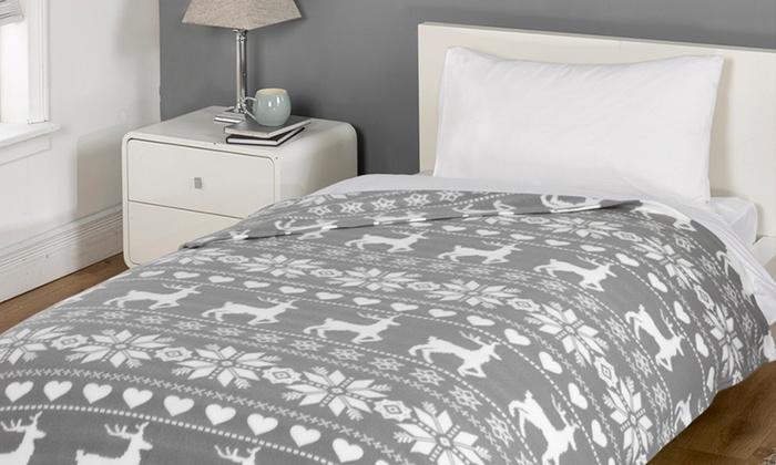 Nordic Fleece Blanket | Groupon Goods
