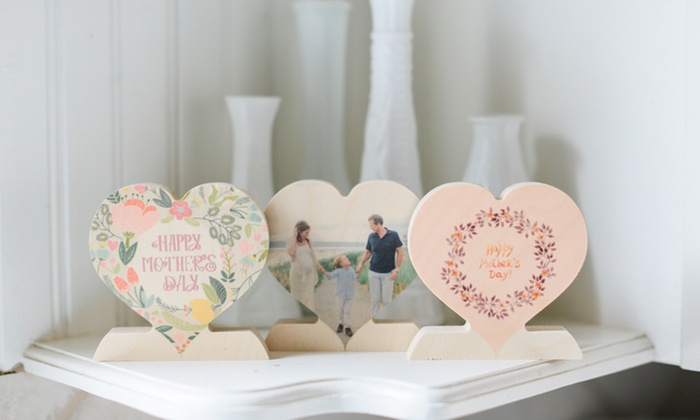 PhotoBarn: Up to 83% Off Custom Wooden Photo Hearts