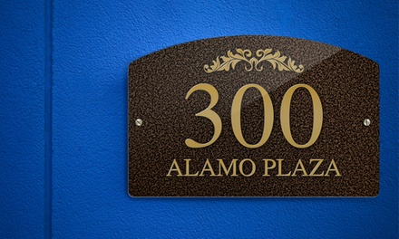 Standard, Medium, or Large Custom Address Plaque from CustomAddressPlaques.com (Up to 74% Off)