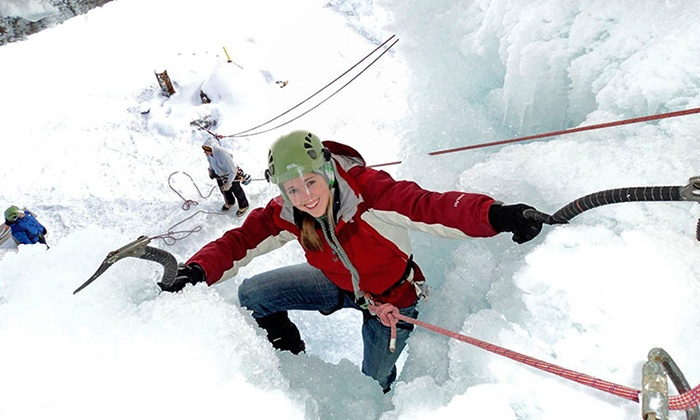 Northern Lights Rock and Ice - Essex Town: Ziplining Package for Two, Ice-Climbing Session for Two, or Both at Northern Lights Rock and Ice (Up to 48% Off)