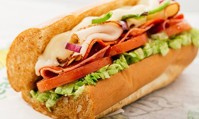 Subway - Mount Prospect: Sandwiches, Sides, and Drinks, or Assorted Sandwich Platters at Subway (Up to 40% Off). Three Options Available.