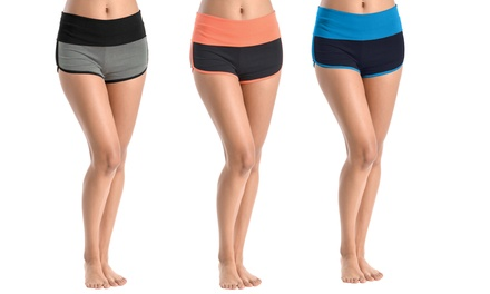 3-Pack of Two-Tone Dolphin Active Shorts