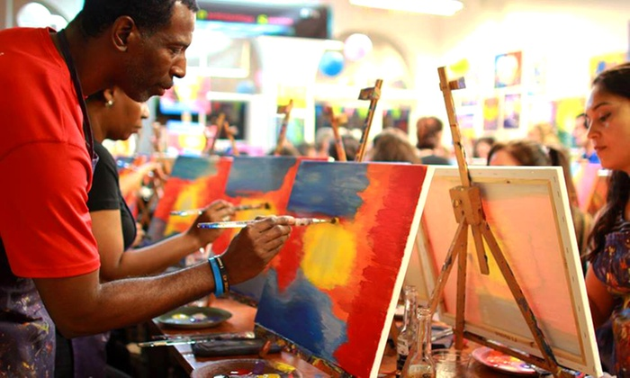 A Painting Fiesta - Weston: $26 for a Two- and a Half-Hour BYOB Painting Class at A Painting Fiesta ($45 Value)