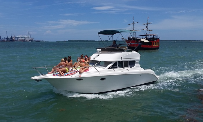 South Beach Charters, llc - South Beach Charters, llc: $379 for a Three-Hour Private Yacht Charter for Four at South Beach Charters ($850 Value)