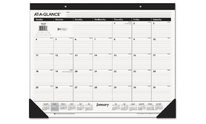 2016 monthly desk calendar groupon goods
