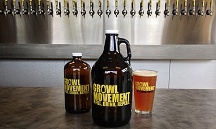 Growl Movement - Keizer: $10.99 for a 64-Ounce Growler and Punch Card for Three $5 Credits toward Craft Beer Fills at Growl Movement ($20 Value)