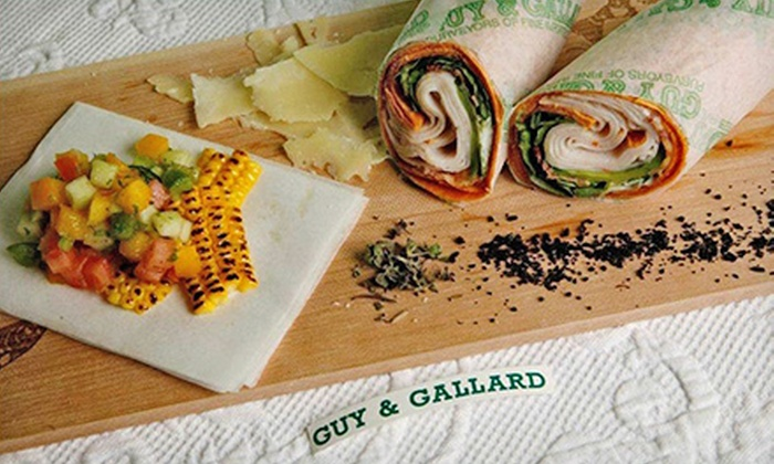 Guy & Gallard - Multiple Locations: Two $10 Vouchers for International Café Cuisine at Guy & Gallard ($20 Value). 9 Locations Avaiable.