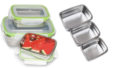 Set of Three Stainless Steel Lunch Boxes: One ($29) or Two ($49)