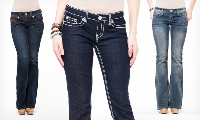 Seven7 Women's Flare and Boot-Cut Jeans | Groupon