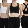 3-Pack of Women's Crisscross Back Microfiber Sports Bras