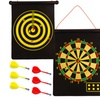 Magnetic Roll-Up Dartboard and Bullseye Game with Darts