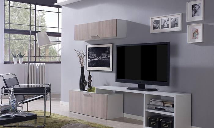 Mueble de sal n para la tv groupon goods for Groupon muebles salon