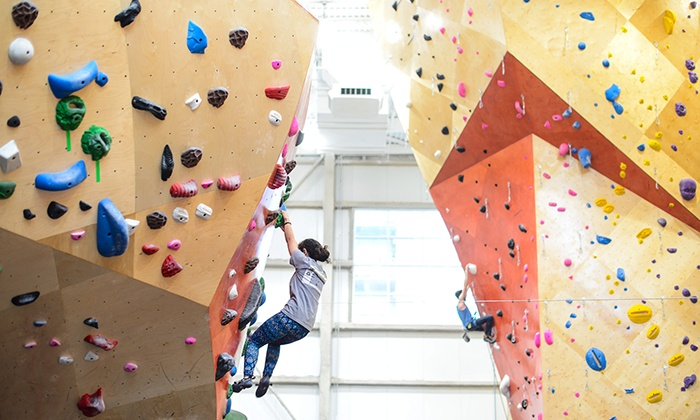 Brooklyn Boulders - Chicago - Brooklyn Boulders - Chicago: Learn the Ropes Class or Rock-Climbing Day Pass with Gear Rental at Brooklyn Boulders (Up to 58% Off)