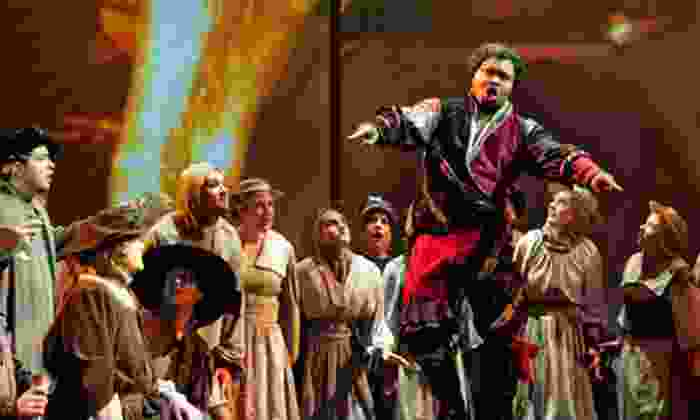 """Indianapolis Opera presents """"Amahl and the Night Visitors"""" - Meridian Kessler: Indianapolis Opera's """"Amahl and the Night Visitors"""" for Two or Four with Drinks at Basile Opera Center (Up to 44% Off)"""