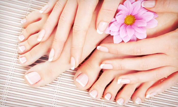 Celebrations Salon - Middletown: Express Mani-Pedi, Spa Mani-Pedi, or Shellac Mani with Spa Pedi at Celebrations Salon (Up to 57% Off)