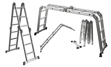 12' Lightweight Multi-Purpose Aluminum Folding Ladder