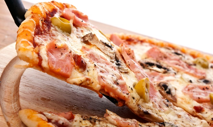 Angeletto's Pizzeria & Pub - Central Business District: Pizza at Angeletto's Pizzeria & Pub (Up to 50% Off). Two Options Available.