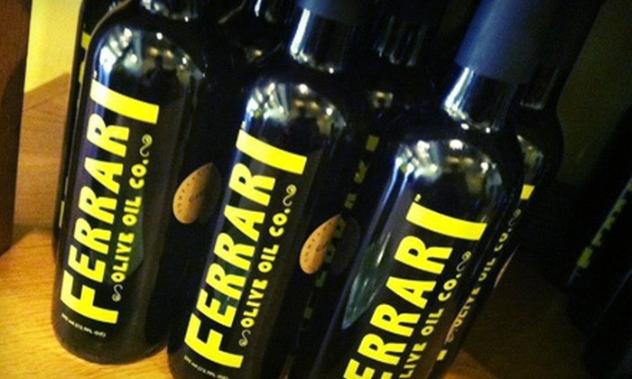 Ferrari Olive Oil Company - Studio City: Oil-and-Aged-Balsamic Vinegar Package or $15 for $30 Worth of Gourmet Oils from Ferrari Olive Oil Company