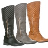 Riverberry Ava Women's Quilted Knee-High Riding Boots