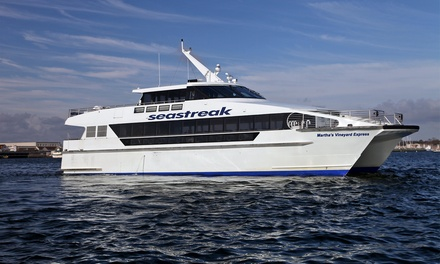 $42 for a Round-Trip Ferry Ride to Martha's Vineyard from Seastreak ($70 Value)