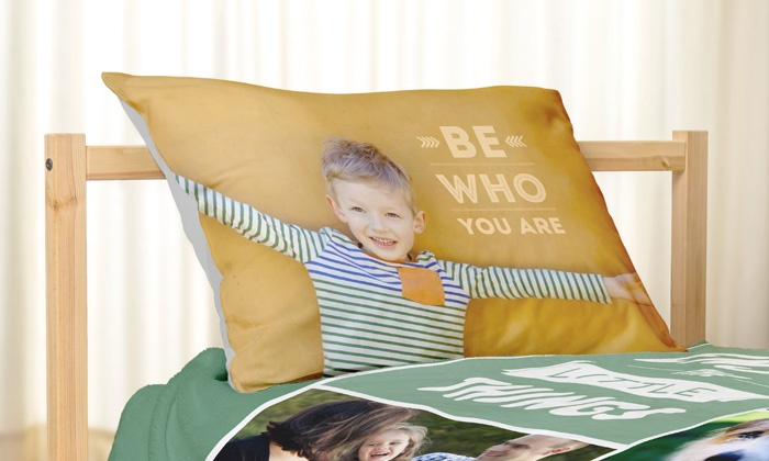 York Photo: One or Two Personalized Pillowcases from York Photo (Up to 57% Off)