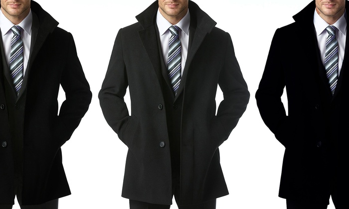 Single Breasted Pea Coat | Down Coat