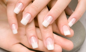 Hands 2 Hair Salon and Spa: One or Three Spa Pedicures with Basic or Shellac Manicure at Hands 2 Hair Salon and Spa (Up to 54% Off)