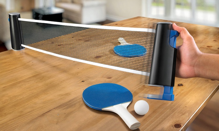 Portable Ping-Pong Table Set   Groupon Goods. Portable Ping Pong Table Set Groupon Goods & Appealing Ping Pong Set For Table Images - Best Image Engine ...