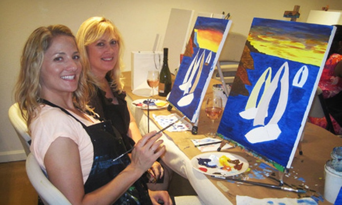 Art of Merlot - Downtown Scottsdale: $45 for a BYOB Art Class for Two at Art of Merlot (Up to $90 Value)