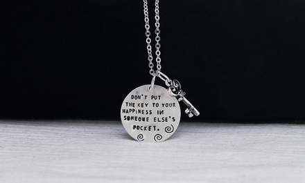 $5 for a Key to Happiness Necklace from Monogramhub.com ($49.99 Value)