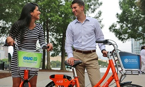 Juice Bike Share: $7.50 for a 30-Day Juice Bike Share Monthly Pass ($15 Value)