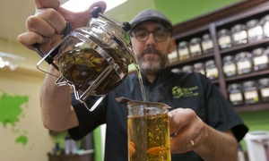 World Tea House: CC$11 for a Five-Drink Punch Card for Organic Fair-Trade Teas at World Tea House (CC$23.75 Value)