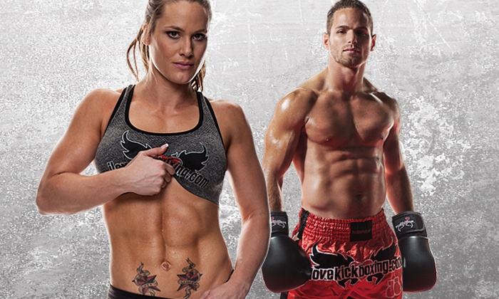 iLoveKickboxing.com - Multiple Locations: 4 or 10 Kickboxing Classes with Personal-Training Session and Boxing Gloves at iLoveKickboxing.com ( 82% Off )