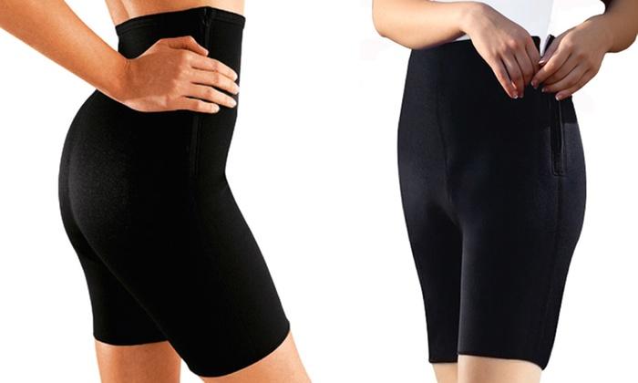 Milex Anti-Cellulite Ultra Firming Shorts: Milex Anti-Cellulite Ultra Firming Shorts in Black
