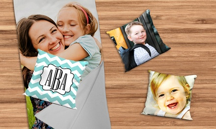Personalized Blanket with Optional 16x16 or 15.5x22.5 Pillow from Picture It On Canvas (Up to 76% Off)