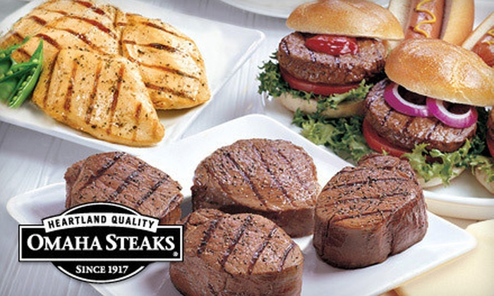 Omaha Steaks Inc. **NAT**: Gourmet Meat Grilling Packages with Shipping from Omaha Steaks (Up to 62% Off). Three Options Available.