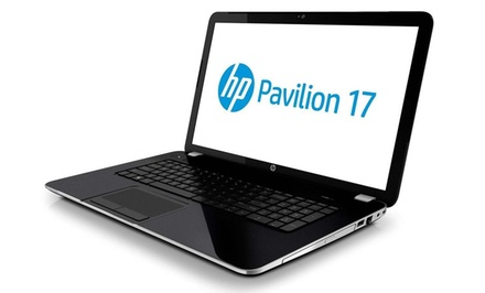 "groupon daily deal -  HP Pavilion 17.3"" HD Laptop with AMD 2.1GHz Quad-Core Processor (Manufacturer Refurbished). Free Returns."