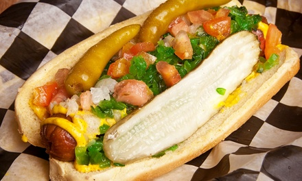One or Two Groupons, Each Good for $10 Worth of Hot Dogs and Burgers at The Gnarley Dawg (Up to 35% Off)