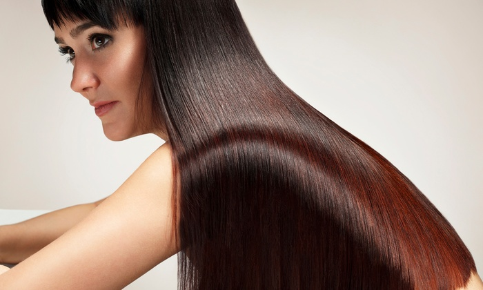 M22 Hair Design - South Brookline: Haircut with Conditioning, Haircut with Highlights, or Keratin Treatment at M22 Hair Design (Up to 57% Off)