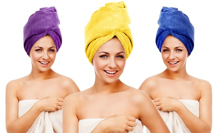 Twist Turban Hair Towels (3-Pack)