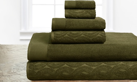 6-PC Egyptian-Cotton Towel Set | Groupon Goods